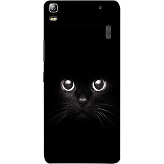 FUSON Designer Back Case Cover For Lenovo K3 Note :: Lenovo A7000 Turbo (Black Kitty Kitten Closeup Of A Long Haired Black Cats )