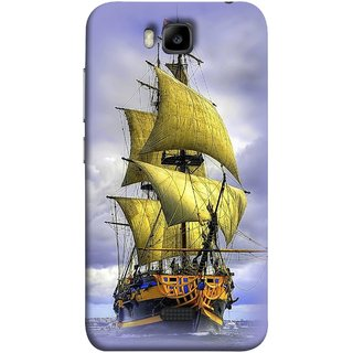 FUSON Designer Back Case Cover For Huawei Honor Bee :: Huawei Honor Bee Y5c (Big Ship In Ocean Vintage Tall High)