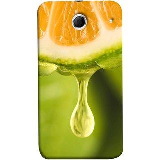 FUSON Designer Back Case Cover For Lenovo K880 (Orange Juice Dripping Slice Citrus Fruit Flesh)