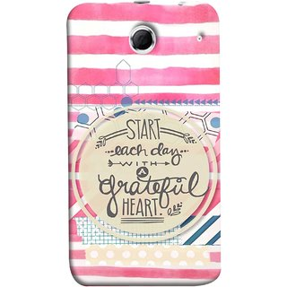 FUSON Designer Back Case Cover For Lenovo K880 (Great Hearts Dil Love Everyday Quotes Sunny Bright )