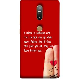 FUSON Designer Back Case Cover For Lenovo Phab 2 Plus :: Lenovo Phab2+ (Up When You Have Fallen If They Can'T Pick You )