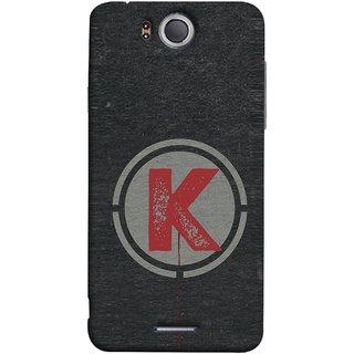 FUSON Designer Back Case Cover For InFocus M530 (K Is Ok Initial Red Glossy Round Icon K Random Red)