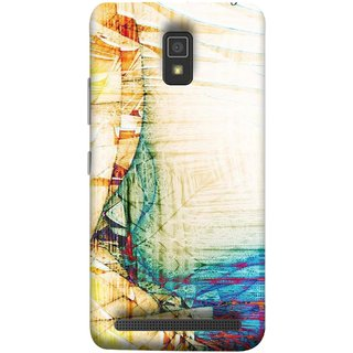 FUSON Designer Back Case Cover For Lenovo A6600 (Architect  Design Wood Pattern Curvilinear Plan Year)