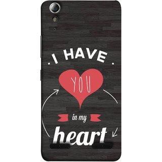 FUSON Designer Back Case Cover For Lenovo A6000 :: Lenovo A6000 Plus :: Lenovo A6000+ (Love Circle Life Long You Always In My Hearts)