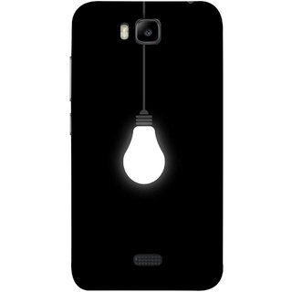 FUSON Designer Back Case Cover For Huawei Honor Bee :: Huawei Honor Bee Y5c (Hanging Light Bulb In Dark Room Ceiling Darkness )