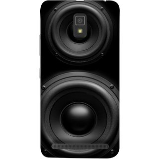 FUSON Designer Back Case Cover For Lenovo A6600 ( Closeup At Moving Sub-Woofer. Speaker Part Abstract)