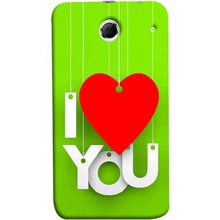 FUSON Designer Back Case Cover For Lenovo K880 (Just Green Say Always I Love You Red Hearts Couples)