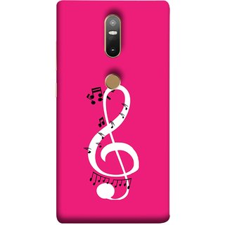 FUSON Designer Back Case Cover For Lenovo Phab 2 Plus :: Lenovo Phab2+ (Disc Music Notes Music Lover And Collector )