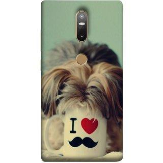 FUSON Designer Back Case Cover For Lenovo Phab 2 Plus :: Lenovo Phab2+ (Dog Baby Coffee Breakfast Tea Best Morning Loyal )