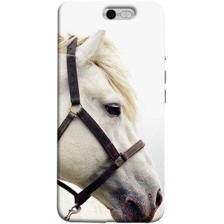 FUSON Designer Back Case Cover For InFocus M812 (Beautiful Horse White Closeup Canvas Wallpaper)