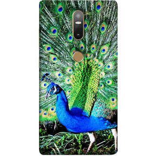 FUSON Designer Back Case Cover For Lenovo Phab 2 Plus :: Lenovo Phab2+ (Nice Colourful Long Attract His Mate Peacock Feathers Beak)
