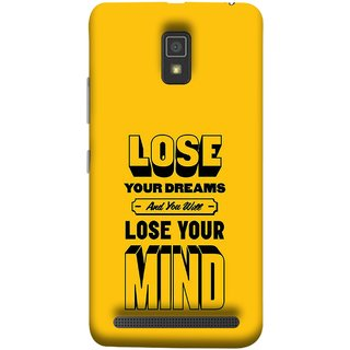 FUSON Designer Back Case Cover For Lenovo A6600 (Lose Your Mind Sapne Khatam To Dimag Bhi Khatam)