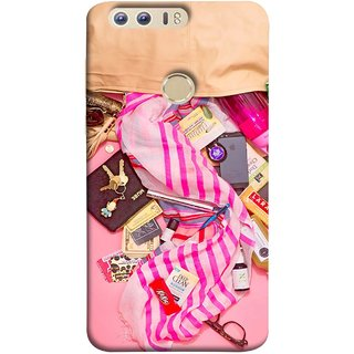 FUSON Designer Back Case Cover For Huawei Honor 8 (Iphone Larabar Key Chains Money Notes Shampoo)