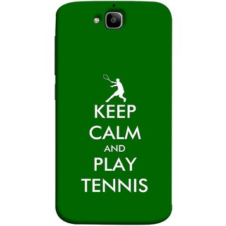 FUSON Designer Back Case Cover For Huawei Honor Holly 2 Plus :: Huawei Honor 2 Plus (Tennis Player Logo Keep Silent And Cool Game On)