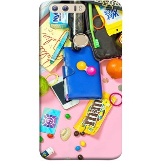 FUSON Designer Back Case Cover For Huawei Honor 8 (Iphone Keys Coins Jellys Sea Shells Purse )