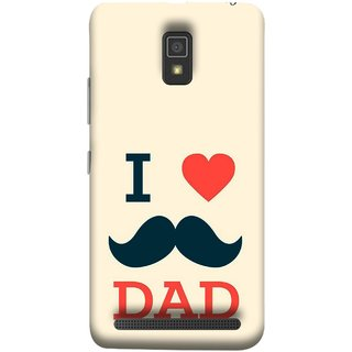 FUSON Designer Back Case Cover For Lenovo A6600 (Dad Day Family Mom Life Long Fathers Day)