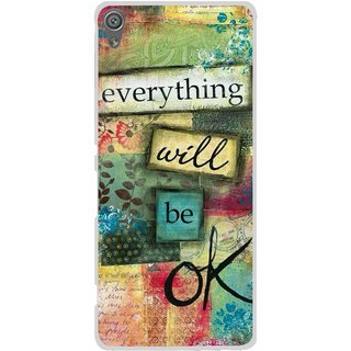 Snooky Printed Will Ok Mobile Back Cover For Sony Xperia XA1 - Multi