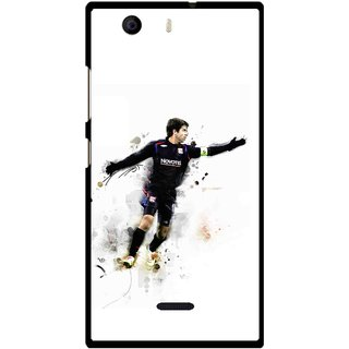 Snooky Printed Pass Me Mobile Back Cover For Micromax Canvas Nitro 2 E311 - Multi