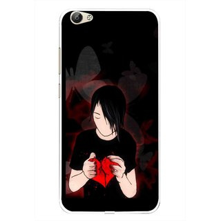 Snooky Printed Broken Heart Mobile Back Cover For Vivo Y55 - Multi