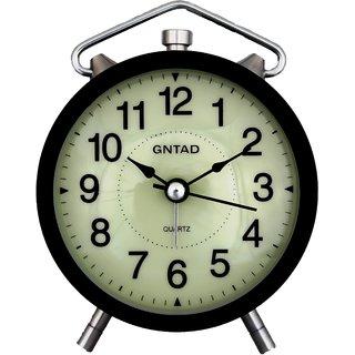 EDEAL Round Shape Black color Beep Analog Alarm Clock With Led Light - EDALRM006