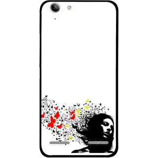 Snooky Printed Butterfly Girl Mobile Back Cover For Lenovo Vibe K5 Plus - Multi