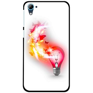 Snooky Printed Butterly Bulb Mobile Back Cover For HTC Desire 826 - Multi