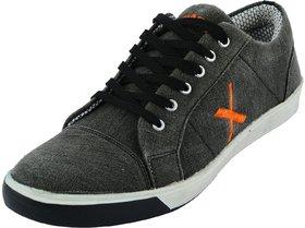 Skyline Men's Black Lace-up Sneakers