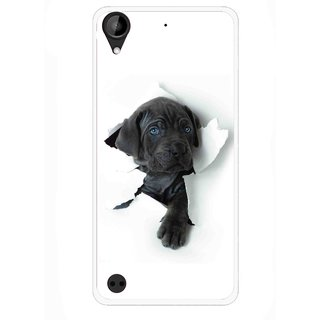 Snooky Printed Cute Dog Mobile Back Cover For HTC Desire 630 - Multi
