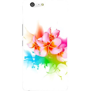 Snooky Printed Colorfull Flowers Mobile Back Cover For Gionee Marathon M5 - Multi