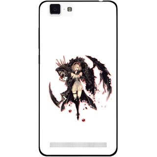 Snooky Printed Kungfu Girl Mobile Back Cover For Vivo X5 Max - Multi