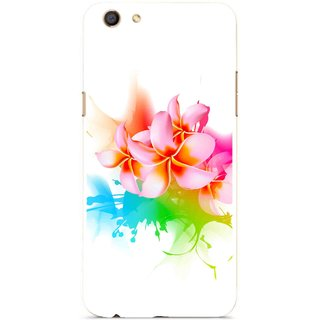 Snooky Printed Colorfull Flowers Mobile Back Cover For Oppo F3 - Multi
