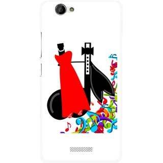 Snooky Printed Fashion Mobile Back Cover For Gionee M2 - Multi