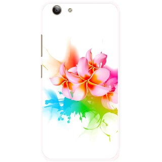 Snooky Printed Colorfull Flowers Mobile Back Cover For Vivo Y53 - Multi