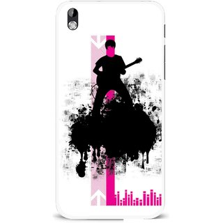 Snooky Printed Music In Air Mobile Back Cover For HTC Desire 816 - Multi