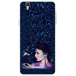 Snooky Printed Blue Lady Mobile Back Cover For Micromax Yu Yureka Plus - Multi