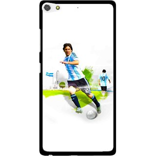 Snooky Printed Football Mania Mobile Back Cover For Gionee Elife S7 - Multi