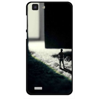 Snooky Printed God Door Mobile Back Cover For Vivo Y27L - Multi