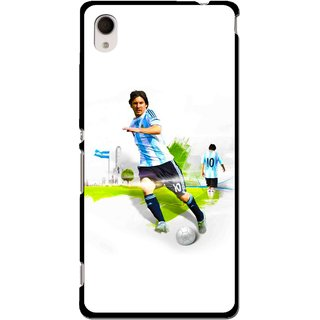 Snooky Printed Football Mania Mobile Back Cover For Sony Xperia M4 - Multi