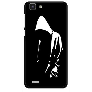 Snooky Printed Thinking Man Mobile Back Cover For Vivo Y27L - Multi