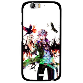 Snooky Printed Angry Man Mobile Back Cover For Micromax Canvas Turbo A250 - Multi