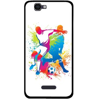 Snooky Printed Footbal Mania Mobile Back Cover For Micromax Canvas 2 A120 - Multi