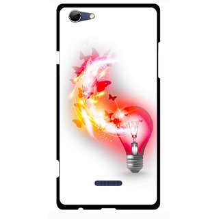 Snooky Printed Butterly Bulb Mobile Back Cover For Micromax Canvas Selfie 3 Q348 - Multi