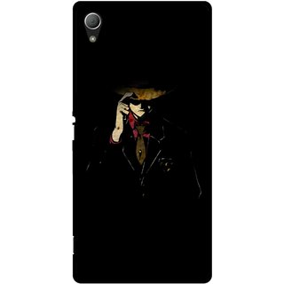Snooky Printed Cow Bow Mobile Back Cover For Sony Xperia Z3 - Multi