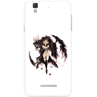 Snooky Printed Kungfu Girl Mobile Back Cover For Micromax Yu Yureka Plus - Multi