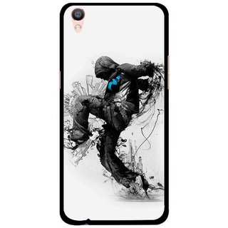 Snooky Printed Enjoying Life Mobile Back Cover For Oppo F1 Plus - Multi