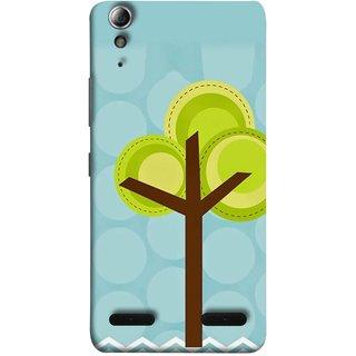FUSON Designer Back Case Cover For Lenovo A6000 :: Lenovo A6000 Plus :: Lenovo A6000+ (Brown Branches Hand Artwork Green Leaves Water )