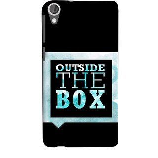 FUSON Designer Back Case Cover For HTC Desire 825 (Always Think Out Of Box Achievements Innovations)
