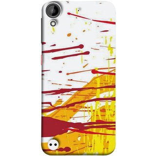 FUSON Designer Back Case Cover For HTC Desire 530 (Artwork Acid Bright Wallpaper Yellow Shades)