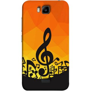 FUSON Designer Back Case Cover For Huawei Honor Bee :: Huawei Honor Bee Y5c (Disco Inferno Abstract Background With Musical Notes)