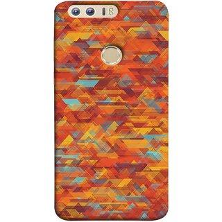 FUSON Designer Back Case Cover For Huawei Honor 8 (Geometric Watercolour Art Print Pink Bright)